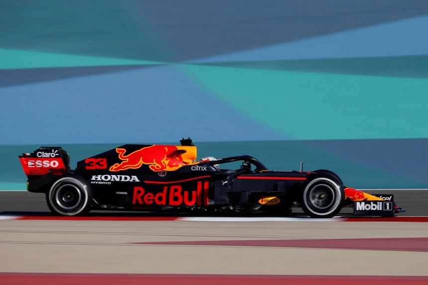 Red Bull's Max Verstappen in action during testing in Bahrain.