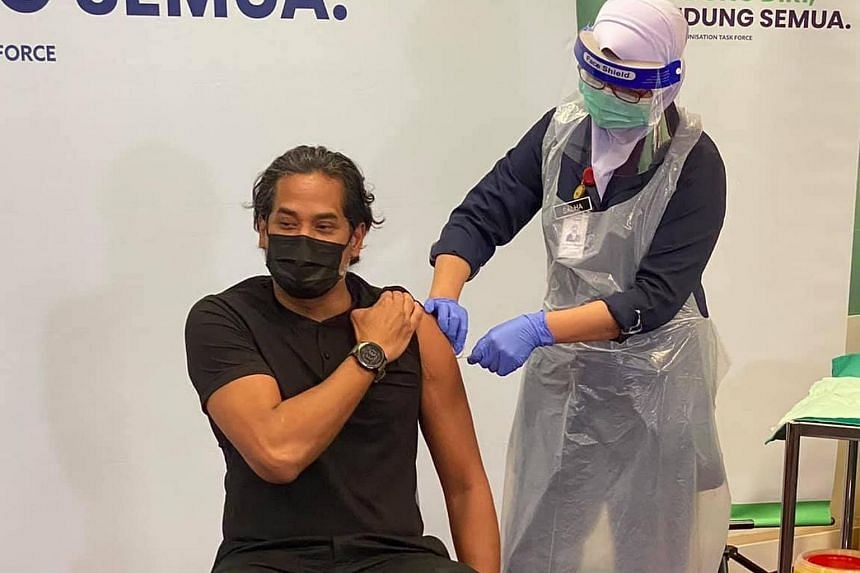 """Mr Khairy Jamaluddin had stated that he chose the China-made vaccine to combat """"selective vaccine hesitancy""""."""