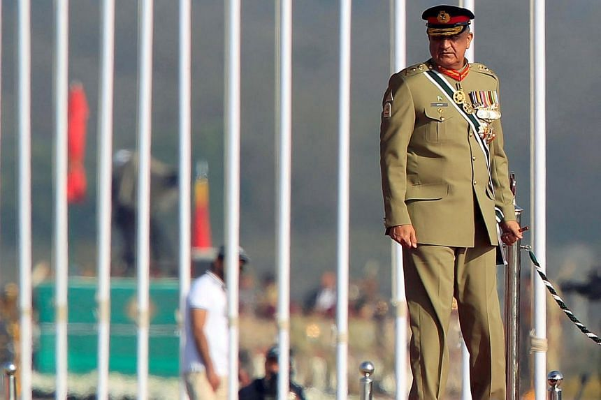 """General Qamar Javed Bajwa stressed that the burden was on India to create a """"conducive environment""""."""