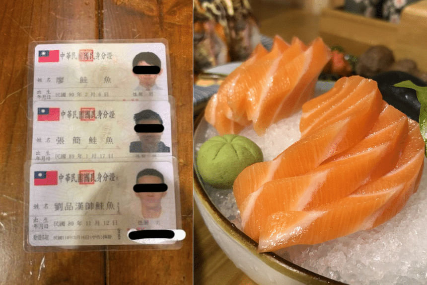 """The enthusiasm came as a restaurant offered an all-you-can-eat sushi meal for customers named """"Gui Yu"""" or """"salmon""""."""