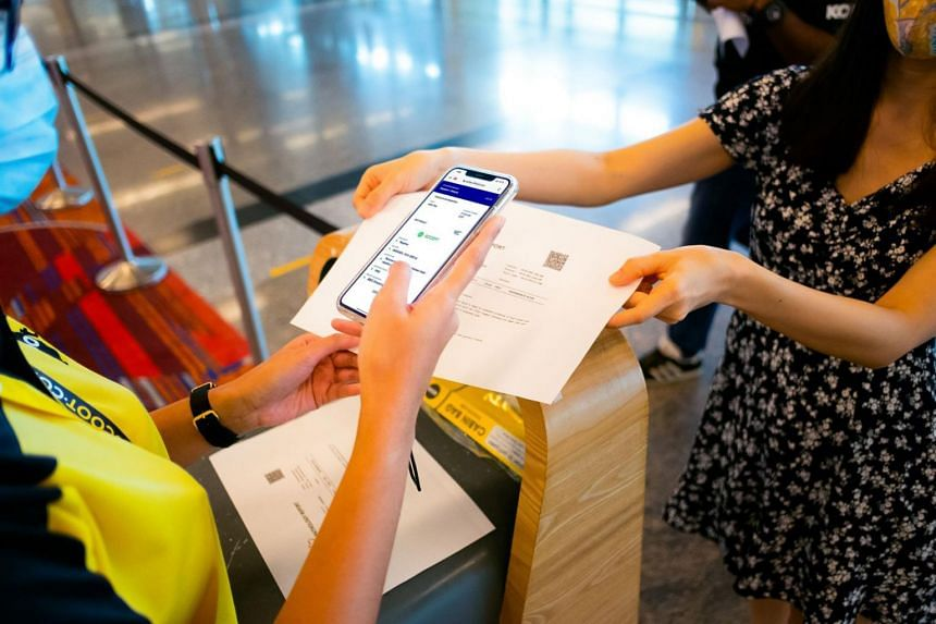 Scoot said it has trialled the digital health verification process at check-in for six flights in the past week.