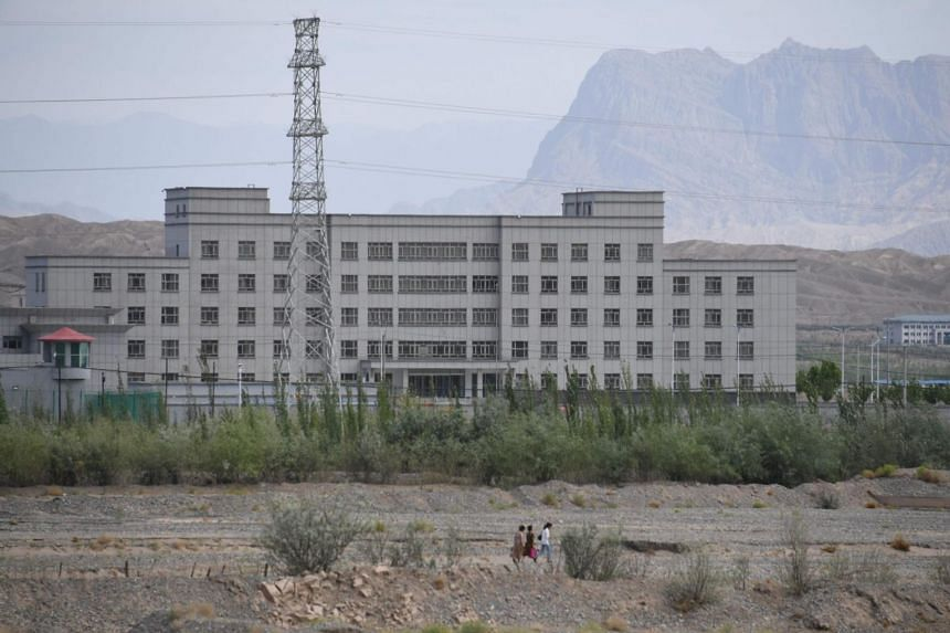 A photo taken on June 2, 2019, shows a facility believed to be a re-education camp where mostly Muslim ethnic minorities are detained, in China's western Xinjiang region.