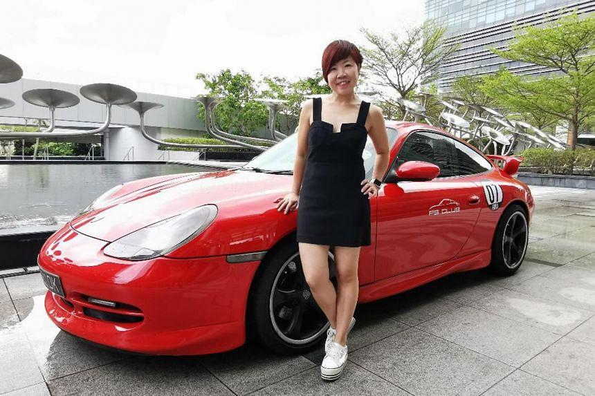 Ms Rina Tan and her 2000 Porsche 911 Carrera 4.