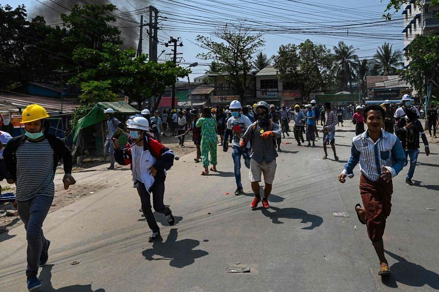Myanmar has been in turmoil since a Feb 1 coup.
