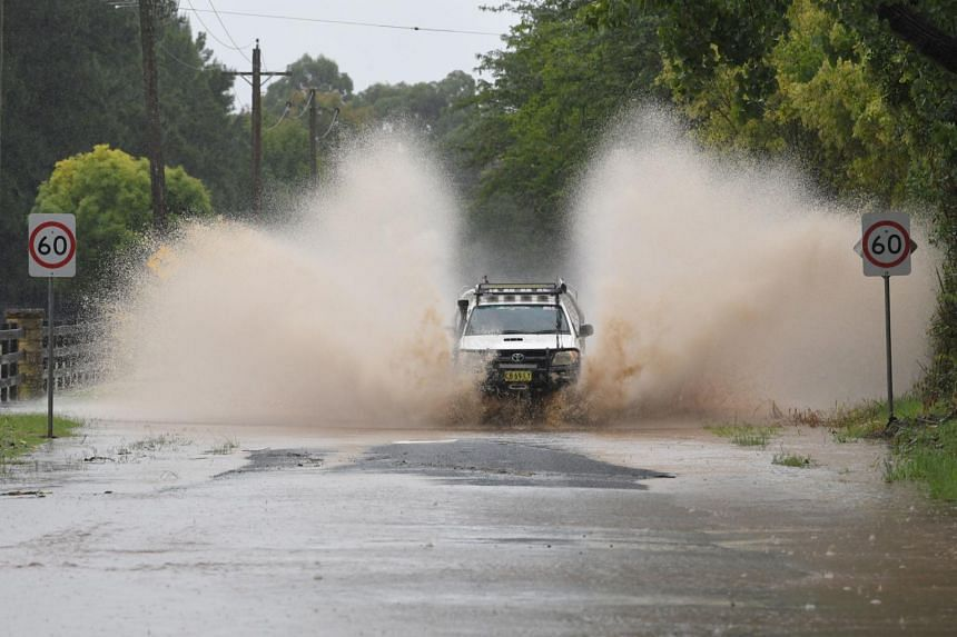Road closures are seen at Yarramundi Lane in Richmond, Australia, on March 20, 2021.