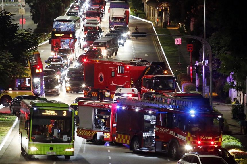 SCDF used lifting equipment to rescue the cyclist but he was pronounced dead at the scene.