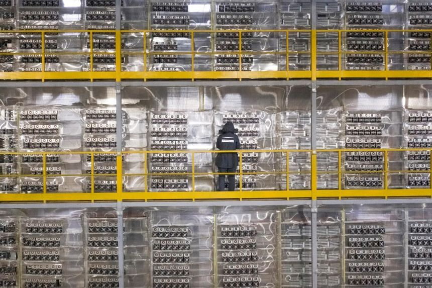 A cryptocurrency mining data centre in Russia. While proponents see bitcoin as an inflation hedge, a survey shows some 84 per cent of respondents were against holding it as a corporate asset, citing volatility as the top concern, followed by board ri