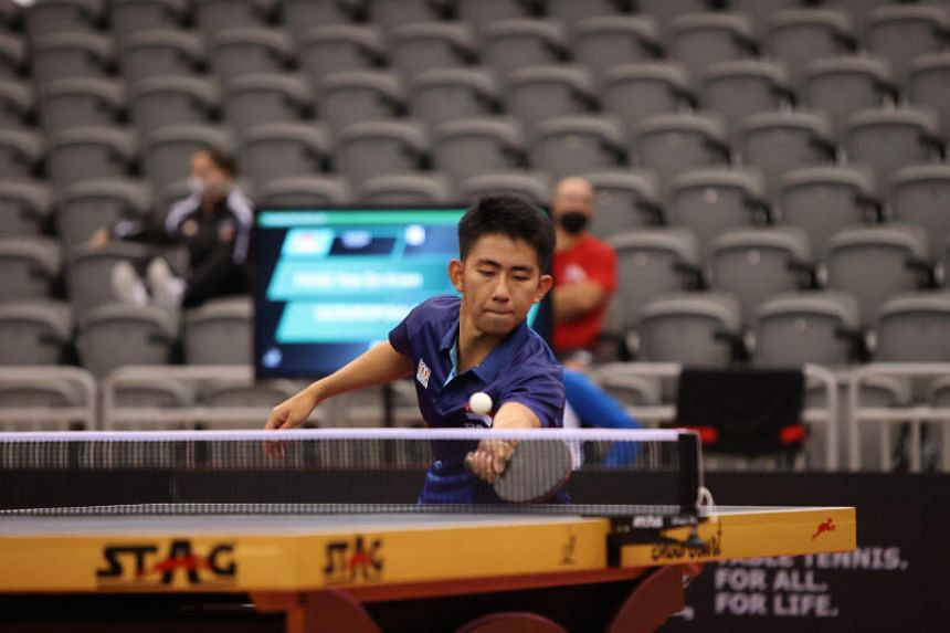 Koen Pang (pictured) will battle teammate Clarence Chew in the Asian Olympic Qualification Tournament final for a spot at the Tokyo Games.