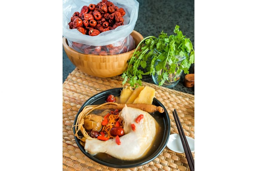 Mr Soh Yong Seng took At-Sunrice's private chef programme in 2018 and started an online business, Ah Seng Soups, which sells dishes such as herbal ginseng chicken soup (above).