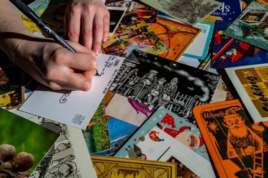 120 million postcards were sent in 2020, the German postal service said.