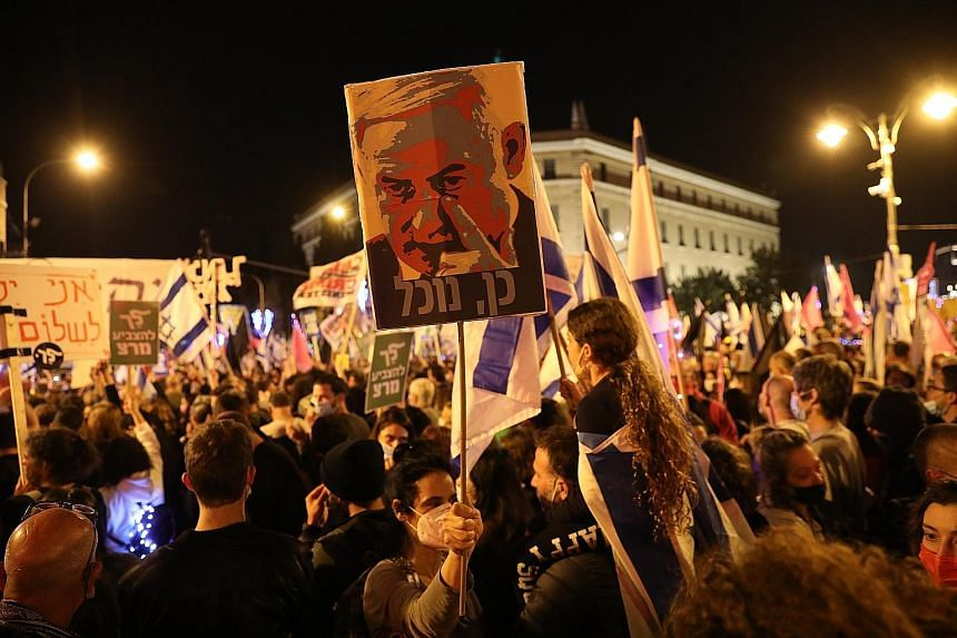 Israelis protest against Netanyahu ahead of election, Middle East News & Top Stories