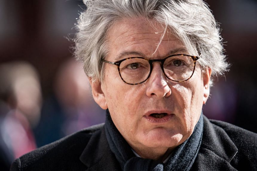EU's Internal Market Commissioner Thierry Breton said the bloc can achieve immunity across the continent by July 14 using available European production.