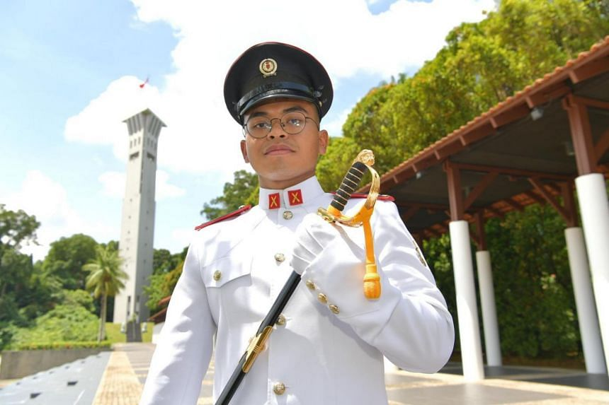 Emir Ilyas Elham was among 204 cadets commissioned as Singapore Armed Forces officers on March 21, 2021.