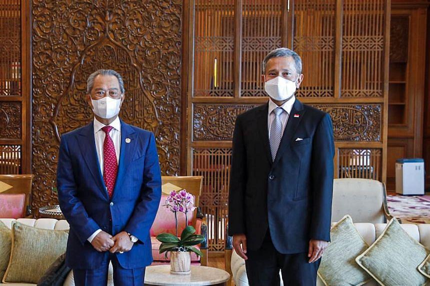 Dr Vivian Balakrishnan also called on Malaysian PM Muhyiddin Yassin during his visit to Kuala Lumpur.