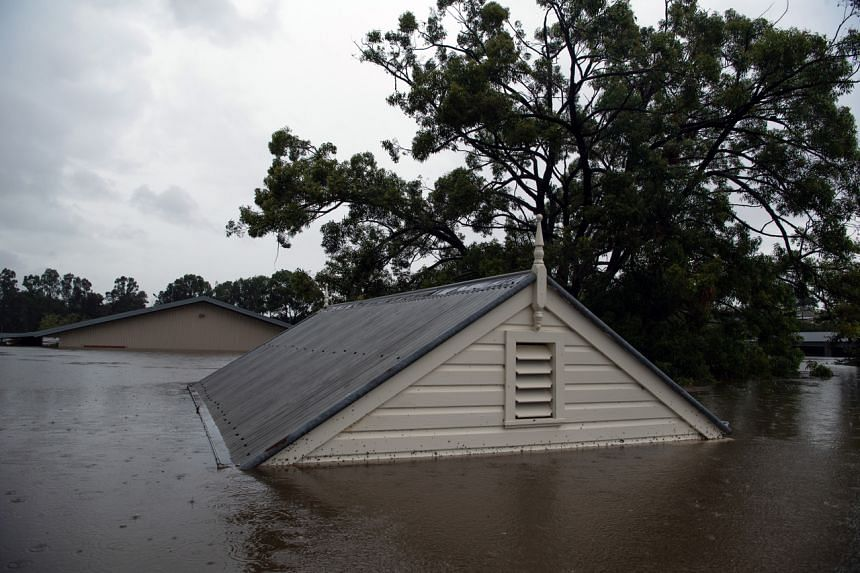 Flooding in Windsor, Australia, on March 22, 2021.