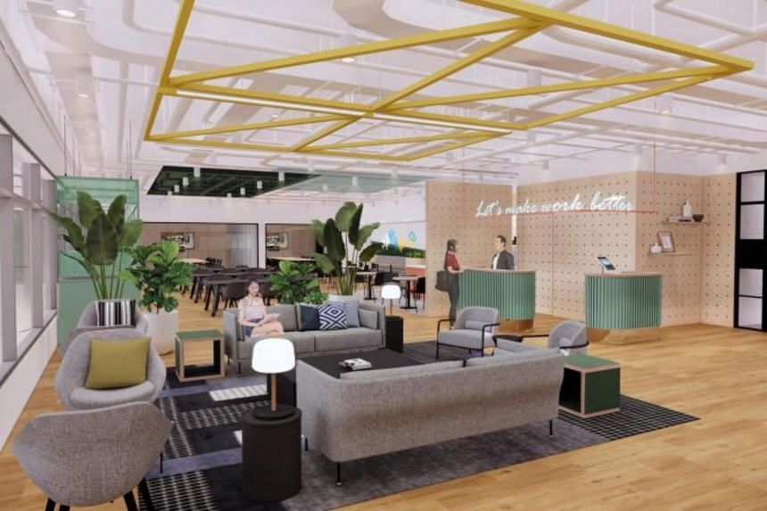 Artist impression of JustCo's space in Asia Green.