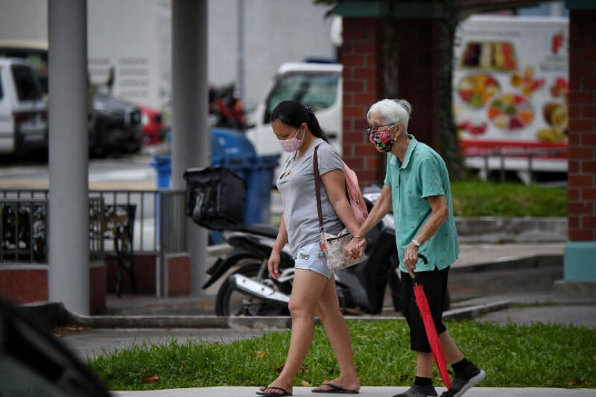 About 14 per cent of the population in Singapore are aged 65 and above.