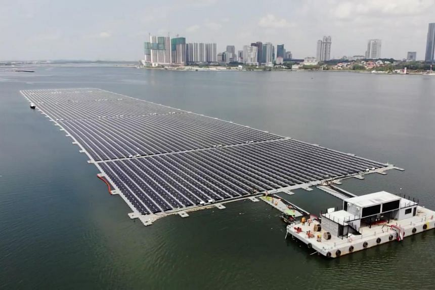 Singapore now home to one of the world's largest floating solar farms, Singapore News & Top Stories - The Straits Times