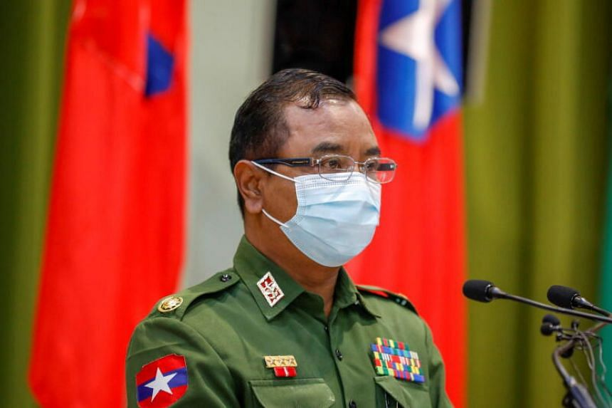 Myanmar's military spokesman Zaw Min Tun said China was friends with Myanmar but did not specify the others.