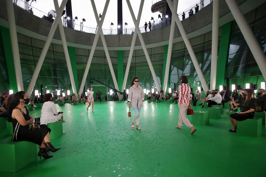 The Louis Vuitton Women's Spring/Summer 2021 Spin-Off show is the first full-fledged physical fashion show in Singapore amid the Covid-19 pandemic.