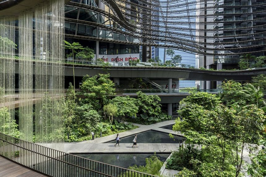 "Marina One Residences boasts a ""green heart"" area within its highly-connected property in the Marina Bay financial district."