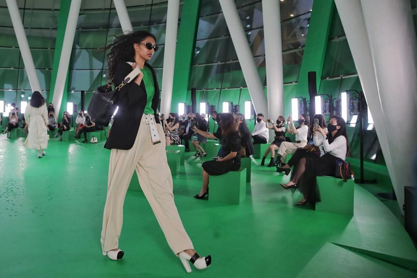 Louis Vuitton Women's Spring/Summer 2021 Spin-Off show at ArtScience Museum, on March 23, 2021.