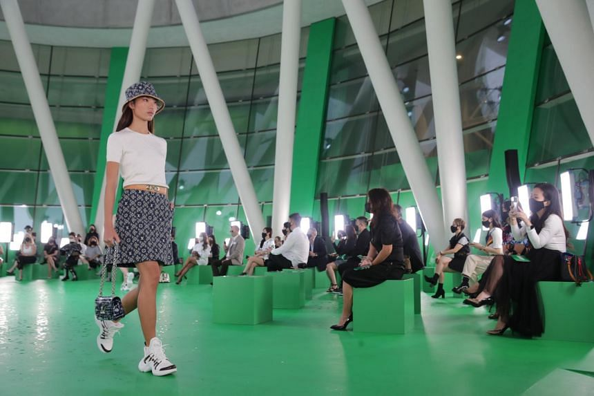 Louis Vuitton Women's Spring/Summer 2021 Spin-Off show at ArtScience Museum on March 23, 2021.
