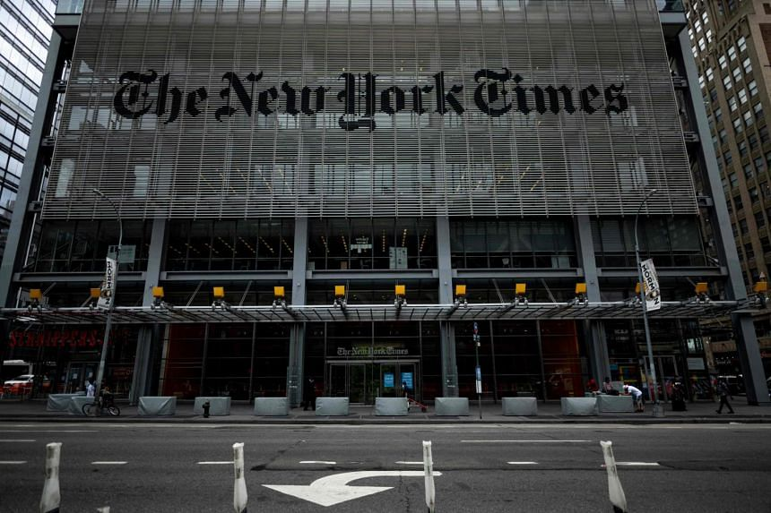 Online visits to the New York Times fell 30 per cent from November to February.