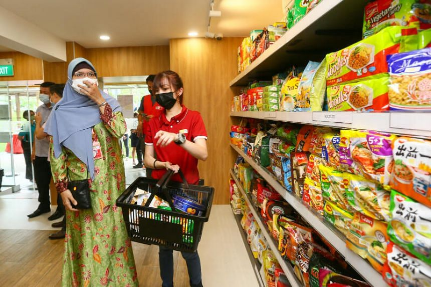 Instead of receiving standard food packages, beneficiaries visit the shop to select what they need.
