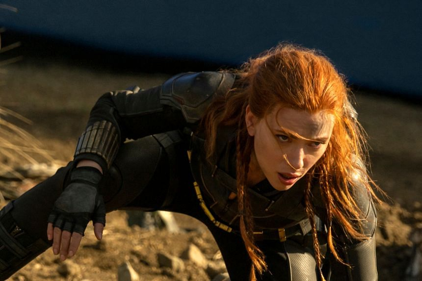 Actress Scarlett Johansson stars as the Russian-born spy-turned-superhero in Marvel Studios film Black Widow.
