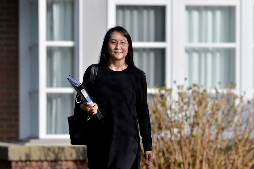 Huawei Chief Financial Officer Meng Wanzhou leaves her home to attend a court hearing in Vancouver, on March 22, 2021.