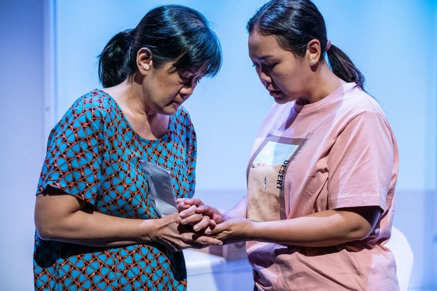 Karen Tan (left) and Siti Khalijah Zainal in Model Citizens by The Necessary Stage.