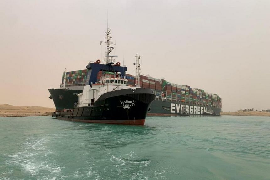 The Ever Given vessel ran aground in the Suez Canal after it was hit by strong winds on the morning of March 23, 2021.