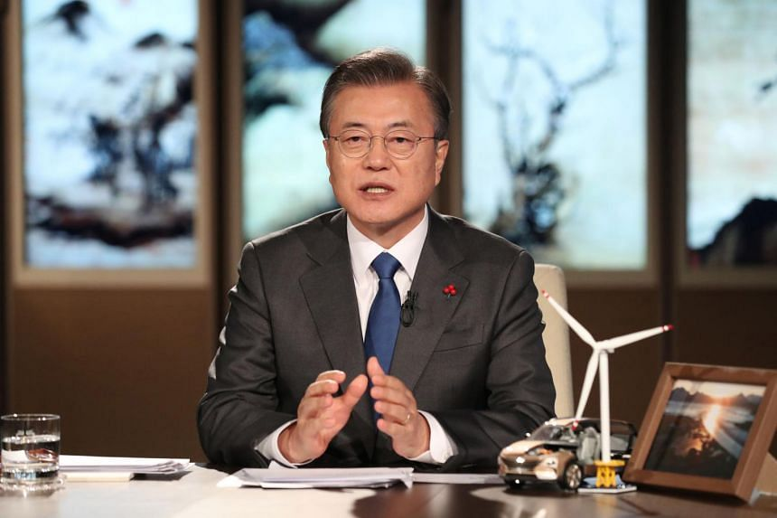 South Korean President Moon Jae-in's approval rating fell to 34 per cent, down from 37 per cent a week ago.