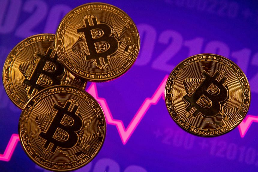 Bitcoin is down about 15 per cent from a record of US$61,742 earlier this month but remains 700 per cent higher over the past year. PHOTO: REUTERS