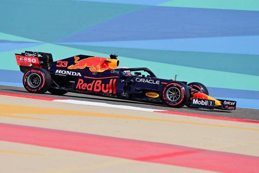 Max Verstappen set a best time of 1min 31.394sec at the Sakhir circuit.