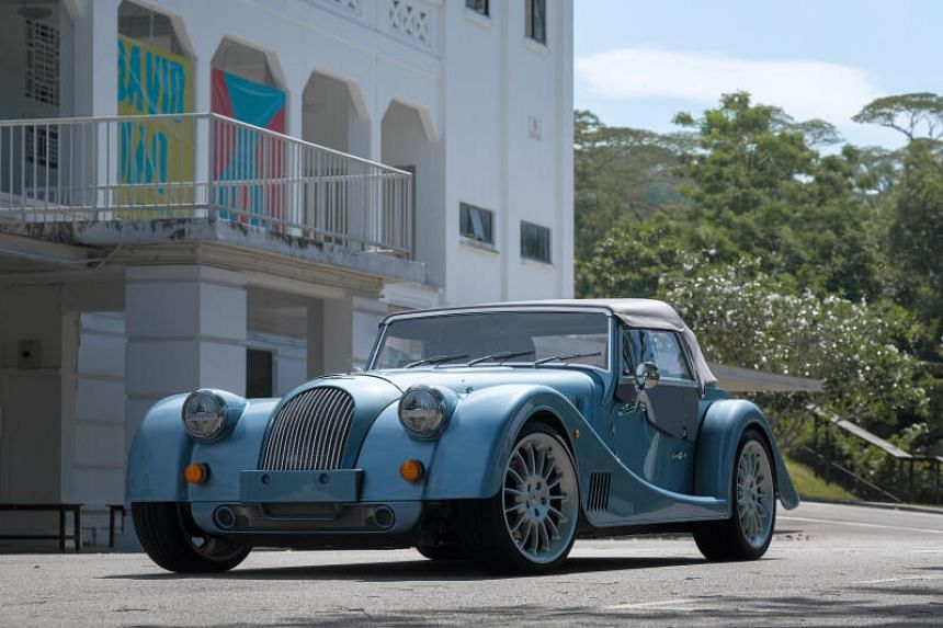 The Morgan Plus Six is powered by a three-litre BMW turbocharged engine.