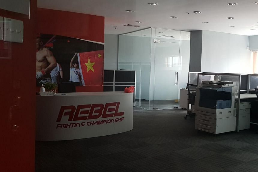 The Rebel FC office at The Plaza was closed and the door was locked on March 25, 2021.