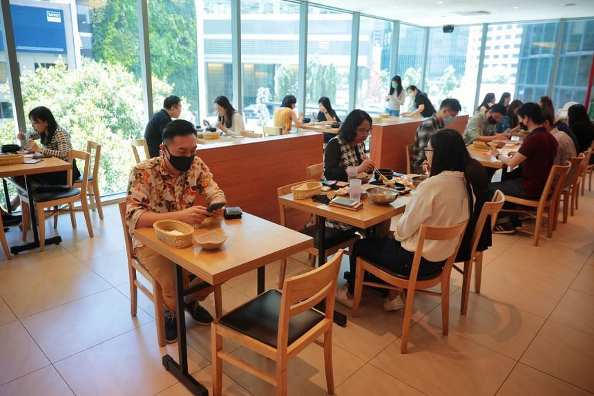 Business at JoAh Korean Restaurant at One Raffles Place has stagnated since last December.