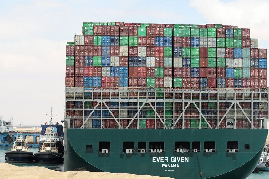 The Ever Given can haul more than 20,100 steel boxes, making it one of the largest container ships.