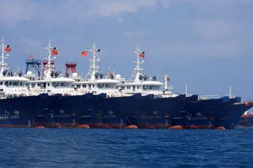 More than 200 Chinese vessels were moored at the Whitsun Reef within Manila's 200-mile exclusive economic zone.