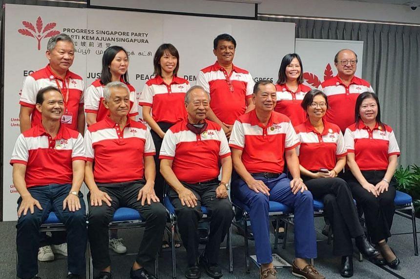 (Clockwise from top left) Mr Phang Yew Huat, Ms Wendy Low, Ms Jess Chua, Mr Harish Pillay, Ms Kayla Low, Dr Ang Yong Guan, Ms Peggie Chua, Ms Hazel Poa, Mr Francis Yuen, Dr Tan Cheng Bock, Mr Wang Swee Chuang and Mr Leong Mun Wai.