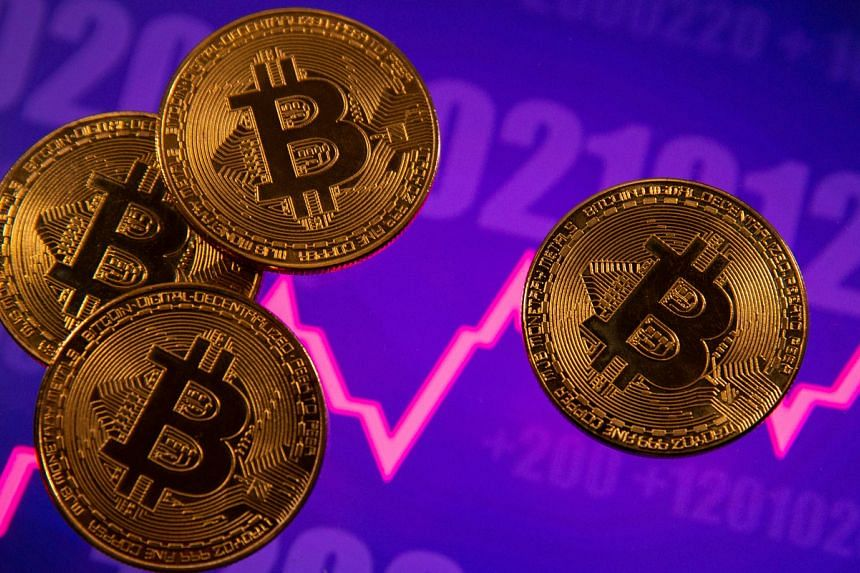 The price of bitcoin, the world's first and most valuable digital currency, hit a record high of US$61,557.