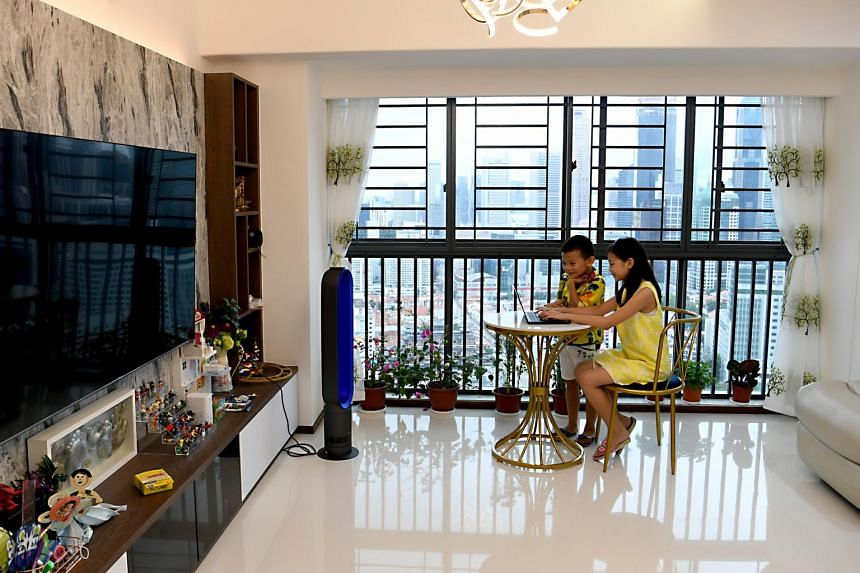 Siblings Matthew and Bella live with their parents in a five-room HDB flat on the 42nd floor in The Pinnacle @ Duxton.