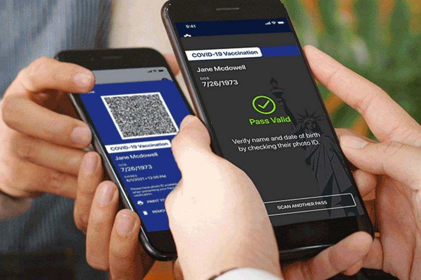 The free online platform, called Excelsior Pass, was developed with IBM and works like a mobile airline boarding pass.