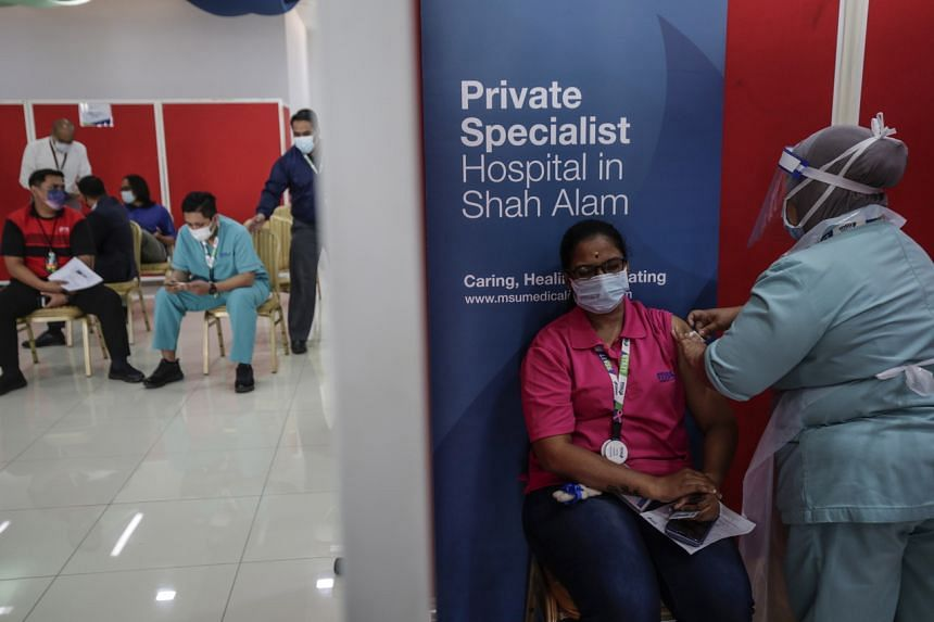 Malaysia aims to inoculate 80 per cent of its people by the end of the year at the earliest.
