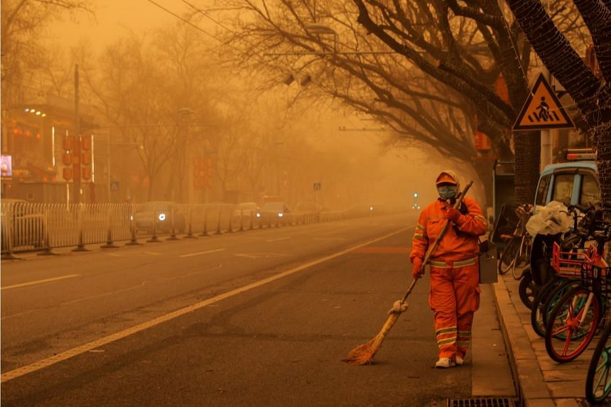"""Shanghai's air was classified as """"severely polluted"""", the worst level of a six-grade scale."""