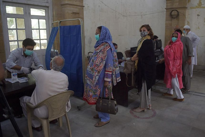 Pakistan launched its vaccine drive earlier this month, inoculating healthworkers and high-risk age groups.