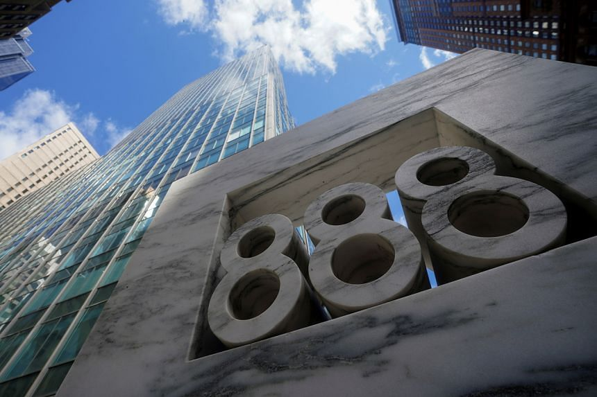 888 7th Ave, a building that reportedly houses Archegos Capital, in the Manhattan borough of New York City.