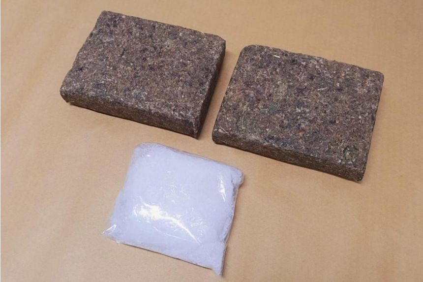 About 323g of Ice and 2,000g of cannabis was seized near Edgefield Plains on March 29.